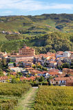 Autumnal view on Barolo. Piedmont, Italy. Stock Images