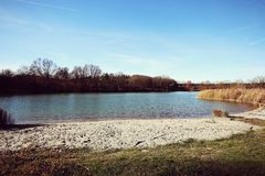 Bavavian lake in autumn, landscape Stock Images