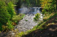 Autumnal view on Keila-Joa waterfall, Estonia Stock Photography