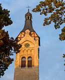 Autumnal view on old church,Dubulti Royalty Free Stock Photo