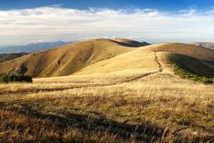 Autumnal view from Velka Fatra mountains Stock Photos