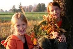 Autumnal walk stock images