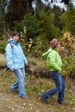 Autumnal walk Royalty Free Stock Photography