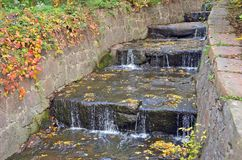 Autumnal waterfall Royalty Free Stock Images