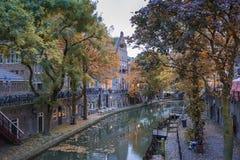 Autumncolors στην Ουτρέχτη Στοκ φωτογραφία με δικαίωμα ελεύθερης χρήσης