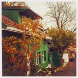 Autumncolors di caduta di Damstredet Oslo Norvegia Immagini Stock