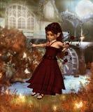 AutumnFairy. 3d render of Autumn Fairy Stock Images