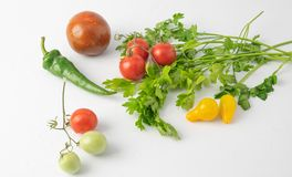 AutumnHomemade tomatoes from the meadow to the table are natural mixes of different colors and sizes stock images