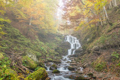 Autumnl waterfal Royalty Free Stock Photo