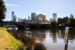 Autumns Day along The Yarra. Royalty Free Stock Image