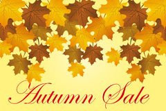 Autumns sale background Royalty Free Stock Images