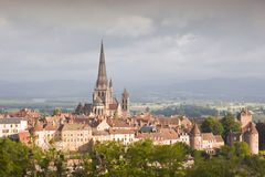 Autun大教堂 库存图片