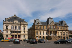 Autun city hall and Theater. Autun city hall building and Theater on the Champ-de-Mars place Stock Photography