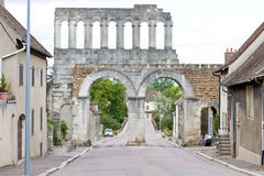 Autun, France. Porte d'Arroux, Autun, Burgundy, France Stock Photo