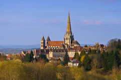 Autun in France, the cathedral. The town Autun in France, the famous cathedral Stock Photography