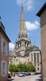 Autun, France. Historical center town Autun with cathedral St. Lazare, France Stock Photo