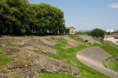 Autun, France. Roman theatre in Autun, France Stock Photography