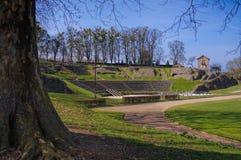 Autun i Frankrike, den roman teatern Royaltyfria Foton