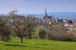 Autun i Frankrike, domkyrkan Arkivfoto