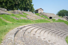 Autun. Roman theatre in Autun, France Royalty Free Stock Image