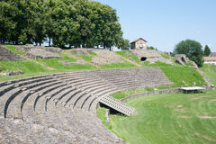 Autun. Roman theatre in Autun, France Royalty Free Stock Images