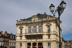 Autun Theater. Theater building on the Champ-de-Mars place in Autun, Burgundy, France Stock Images