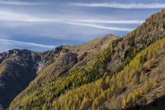 Autunm в горных вершинах Стоковое Изображение