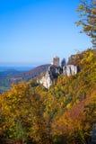 Autunno al castello Reussenstein Fotografia Stock Libera da Diritti