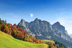 Autunno in alpi svizzere Immagini Stock Libere da Diritti