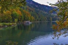 Autunno a Alpsee Fotografie Stock Libere da Diritti
