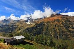 Autunno in anticipo nelle alpi austriache Immagine Stock Libera da Diritti