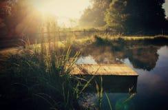 Autunno bello di mattina nell'Ohio Fotografia Stock Libera da Diritti