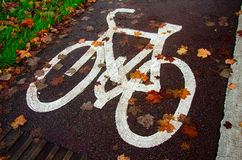 Autunno in bici Fotografia Stock Libera da Diritti