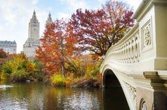 Autunno in Central Park a città di New-York, U.S.A. fotografia stock libera da diritti
