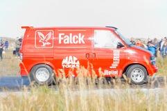 Autunno che corre automobile modificata che va alla deriva in Norvegia Immagine Stock Libera da Diritti