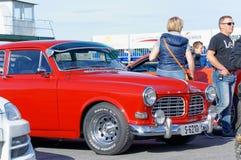 Autunno che corre automobile modificata che va alla deriva in Norvegia Fotografia Stock Libera da Diritti