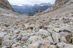 Autunno che fa un'escursione nelle alpi austriache Fotografia Stock Libera da Diritti