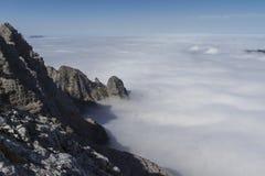 Autunno che fa un'escursione nelle alpi austriache, Europa Fotografie Stock