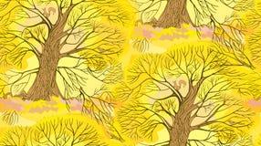 Autunno del modello dell'albero Immagine Stock