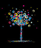 Autunno dell'albero, astratto. Vettore. Immagini Stock Libere da Diritti