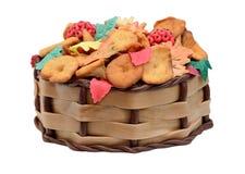 Autunno della torta di compleanno isolato Fotografia Stock Libera da Diritti