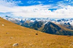 Autunno di giorno della montagna Fotografie Stock Libere da Diritti