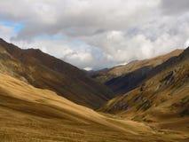Autunno di giorno della montagna Fotografia Stock