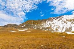 Autunno di giorno della montagna Immagine Stock