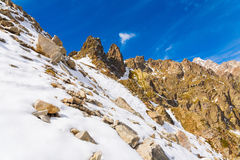 Autunno di giorno della montagna Fotografie Stock