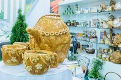 Autunno dorato di mostra agroindustriale russa immagini stock