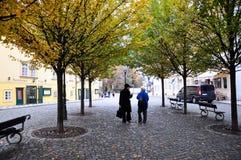Autunno dorato a Praga fotografie stock libere da diritti