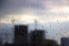 Autunno fuori della finestra vaga Fotografie Stock