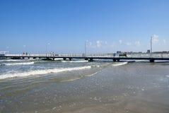 Autunno gentile alla spiaggia Fotografie Stock Libere da Diritti