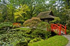 Autunno in giardino giapponese Immagini Stock Libere da Diritti